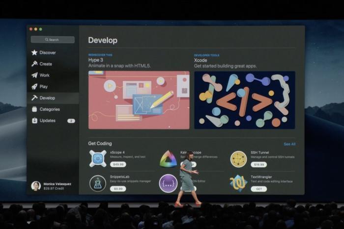 맥OS 모하비의 새로 설계된 '앱 스토어'