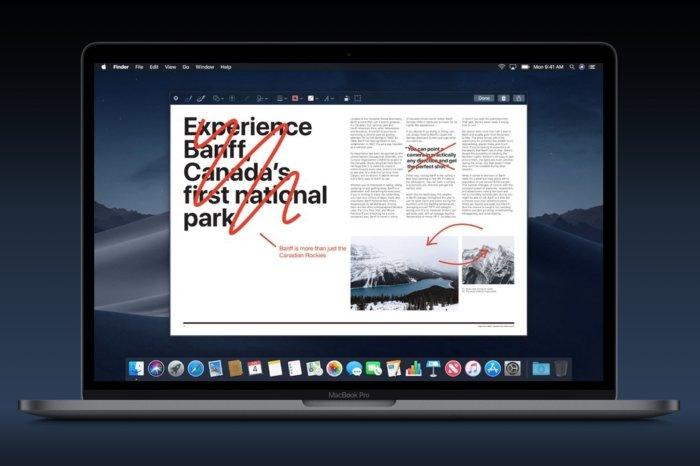 맥OS 모하비의 스크린샷 메모 기능