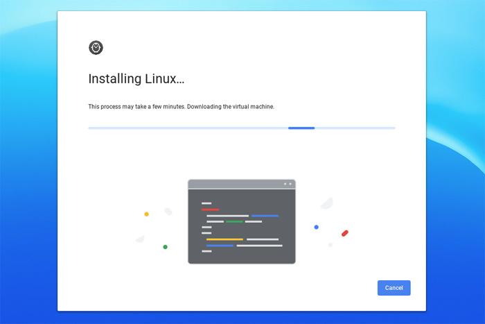 리눅스 가상머신을 다운로드해 설치하고 있다. 긴장하지 말자.